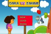 Играть Дора против зомби онлайн флеш игра для детей