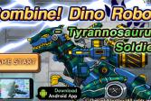 Играть Комбинат динороботов. Солдат тираннозавр онлайн флеш игра для детей