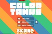 Играть Цветные танки онлайн флеш игра для детей