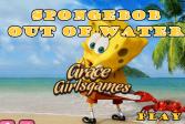 Играть Губка Боб Квадратные Штаны выходит из воды онлайн флеш игра для детей