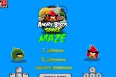 Играть Злые Птицы в Космосе Лабиринт онлайн флеш игра для детей