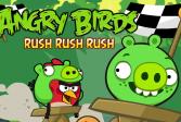 Играть Сердитые птички: напор, напор, напор  онлайн флеш игра для детей