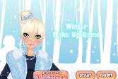 Играть Зимний макияж онлайн флеш игра для детей
