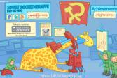 Играть Советская ракета Жираф онлайн флеш игра для детей