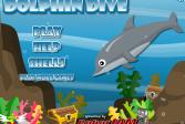 Играть Приводнение дельфина онлайн флеш игра для детей