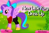 Играть Одень новую маленькую лошадку онлайн флеш игра для детей