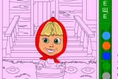 Играть Маша около дома онлайн флеш игра для детей
