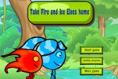Играть Доведите Огонь и Вода до дома онлайн флеш игра для детей