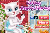 Играть Говорящая Анжела. Бритье онлайн флеш игра для детей