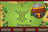 Играть Атака пингвинов 3 онлайн флеш игра для детей