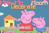 Играть Свинка Пеппа украшает дом на Хэллоуин онлайн флеш игра для детей