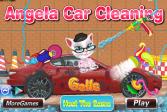 Играть Анжела. Мойка машины онлайн флеш игра для детей