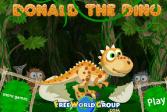 Играть Динозавр Дональд онлайн флеш игра для детей
