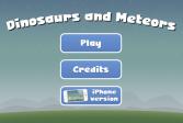 Играть Динозавры и метеоры онлайн флеш игра для детей