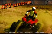 Играть Квадроцикл-разрушитель онлайн флеш игра для детей