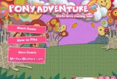Играть Приключения пони онлайн флеш игра для детей
