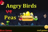 Играть Злые птицы против гороха онлайн флеш игра для детей