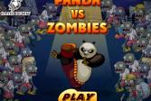 Играть Панда против зомби онлайн флеш игра для детей