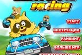 Играть Гонки Енота онлайн флеш игра для детей