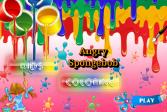 Играть Детская раскраска: злой Губка Боб онлайн флеш игра для детей