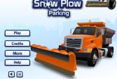 Играть Парковка снегоуборочной машины онлайн флеш игра для детей