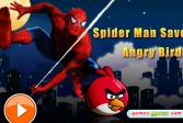 Играть Человек Паук Спасает Злых Птиц онлайн флеш игра для детей