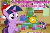 Играть Рождество с Твайлайт Спаркл онлайн флеш игра для детей