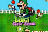 Играть Луиджи стреляет зомби онлайн флеш игра для детей