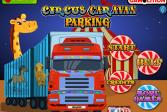Играть Парковка циркового каравана онлайн флеш игра для детей