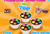 Играть Маффины с украшениями на верхушке онлайн флеш игра для детей