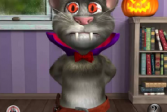 Играть Говорящий Том. Развлечение на Хэллоуин онлайн флеш игра для детей