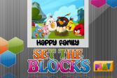 Играть Злые птицы: Счастливая семья онлайн флеш игра для детей