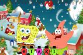 Играть Новогоднее приключение Губки Боба онлайн флеш игра для детей
