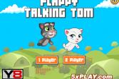Играть Порхающий говорящий Том онлайн флеш игра для детей