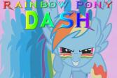 Играть Радуга пони Дэш онлайн флеш игра для детей