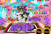 Играть Говорящий кот Том: День рождения малыша онлайн флеш игра для детей