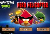 Играть Вертолет Злых Птичек онлайн флеш игра для детей