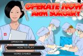 Играть Операция на руке онлайн флеш игра для детей
