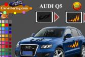 Играть Автомобиль Ауди Q5: Раскраска онлайн флеш игра для детей