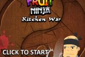 Играть Фруктовый ниндзя. Кухонная война онлайн флеш игра для детей