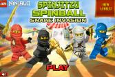 Играть Лего Ниндзя Го: Змеиное вторжение онлайн флеш игра для детей