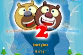 Играть Медведи соседи: Приключение в Антарктике 2 онлайн флеш игра для детей