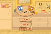 Играть Кошки против мышей онлайн флеш игра для детей