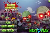 Играть Выживание зомби: Полицейский тренажер онлайн флеш игра для детей