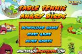Играть Злые Птицы Настольный теннис онлайн флеш игра для детей