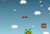 Играть Злые Птицы против Свиней онлайн флеш игра для детей