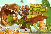 Играть Сумасшедший наездник на рапторе онлайн флеш игра для детей