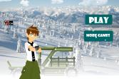Играть Бен 10 на снегоходе онлайн флеш игра для детей