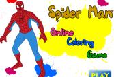 Играть  Человек-паук: Раскраска онлайн флеш игра для детей