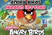 Играть Энгри бердс. Спрятанные буквы онлайн флеш игра для детей